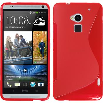Silicone Case for HTC One Max S-Style red