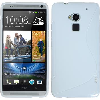 Silikonhülle für HTC One Max S-Style weiß