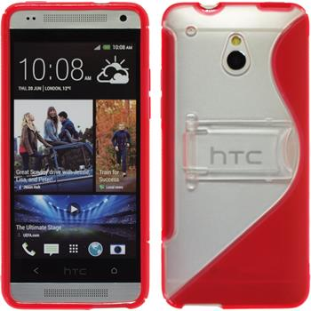 Silicone Case for HTC One Mini  red