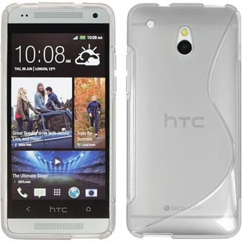Silikonhülle für HTC One Mini S-Style grau