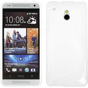 Silikonhülle für HTC One Mini S-Style weiß