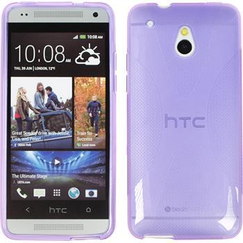 Silikonhülle für HTC One Mini X-Style lila