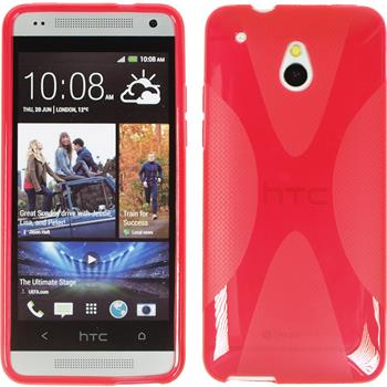 Silicone Case for HTC One Mini X-Style red