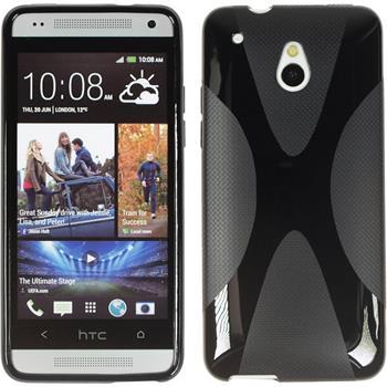 Silikonhülle für HTC One Mini X-Style schwarz