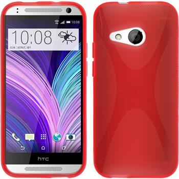 Silicone Case for HTC One Mini 2 X-Style red
