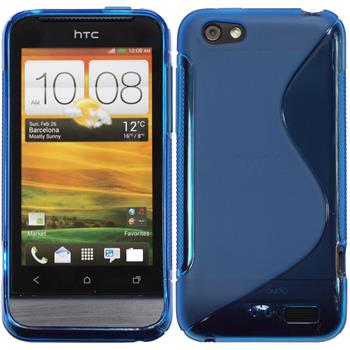Silicone Case for HTC One V S-Style blue