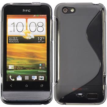 Silikonhülle für HTC One V S-Style grau