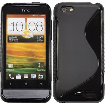 Silicone Case for HTC One V S-Style black