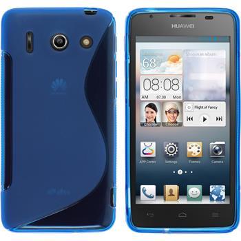 Silikon Hülle Ascend G510 S-Style blau