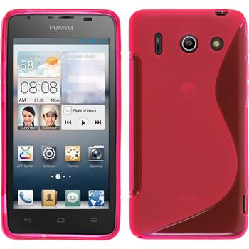 Silikon Hülle Ascend G510 S-Style pink + 2 Schutzfolien