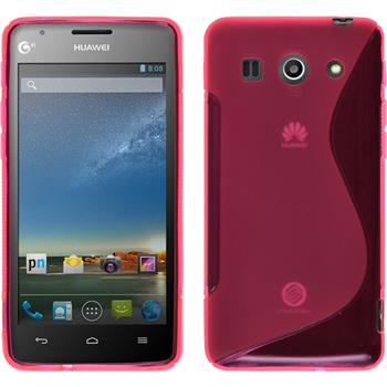 Silikonhülle für Huawei Ascend G520 S-Style pink