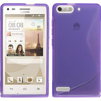 Silicone Case for Huawei Ascend G6 S-Style purple