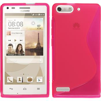 Silicone Case for Huawei Ascend G6 S-Style hot pink