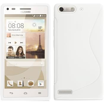 Silicone Case for Huawei Ascend G6 S-Style white