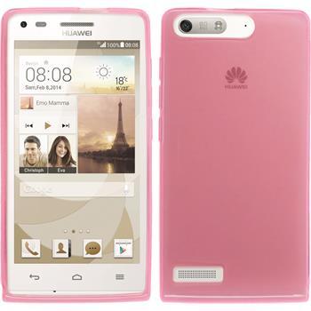 Silikonhülle für Huawei Ascend G6 transparent rosa