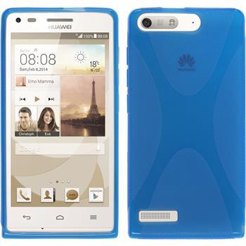 Silikon Hülle Ascend G6 X-Style blau