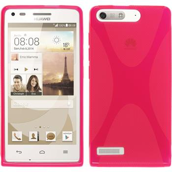Silikonhülle für Huawei Ascend G6 X-Style pink