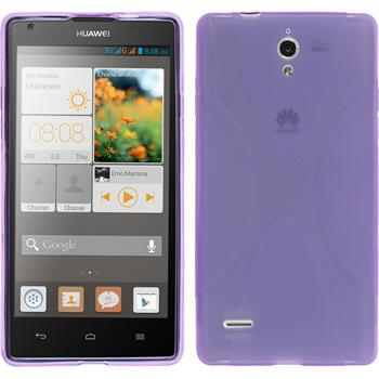 Silicone Case for Huawei Ascend G700 X-Style purple