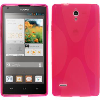 Silikonhülle für Huawei Ascend G700 X-Style pink
