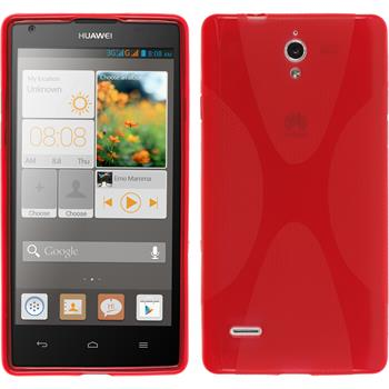 Silicone Case for Huawei Ascend G700 X-Style red