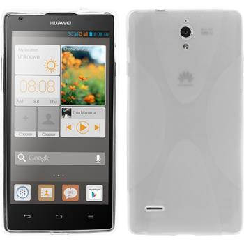 Silicone Case for Huawei Ascend G700 X-Style transparent