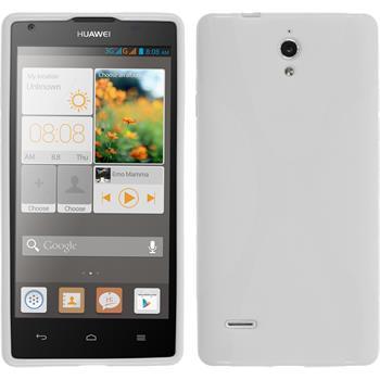 Silikonhülle für Huawei Ascend G700 X-Style weiß