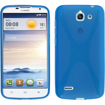 Silicone Case for Huawei Ascend G730 X-Style blue