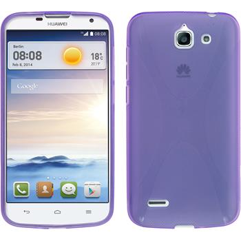 Silicone Case for Huawei Ascend G730 X-Style purple