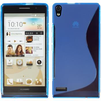 Silikon Hülle Ascend P6 S-Style blau