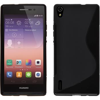 Silicone Case for Huawei Ascend P7 S-Style black