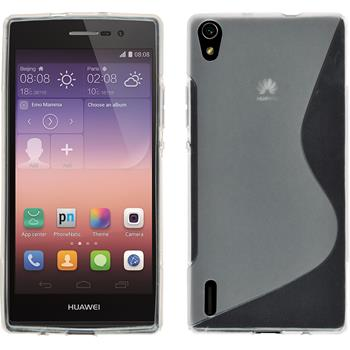 Silicone Case for Huawei Ascend P7 S-Style transparent