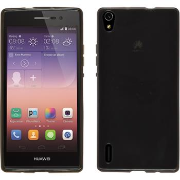 Silicone Case for Huawei Ascend P7 transparent black