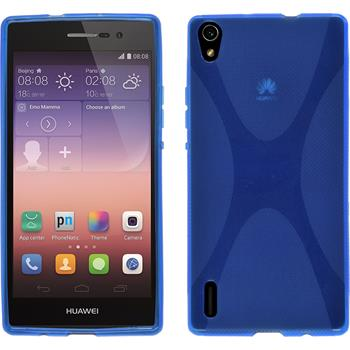 Silicone Case for Huawei Ascend P7 X-Style blue