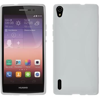 Silicone Case for Huawei Ascend P7 X-Style white