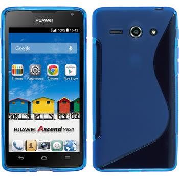 Silicone Case for Huawei Ascend Y530 S-Style blue