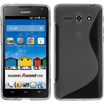 Silicone Case for Huawei Ascend Y530 S-Style gray