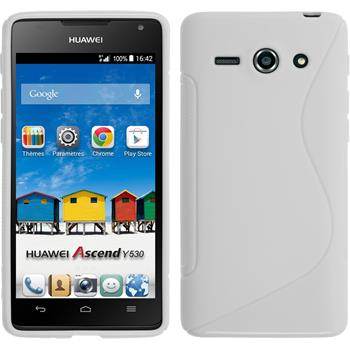 Silicone Case for Huawei Ascend Y530 S-Style white