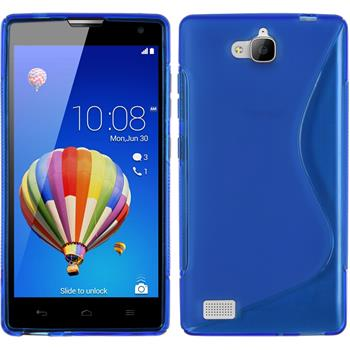 Silikon Hülle Honor 3C S-Style blau