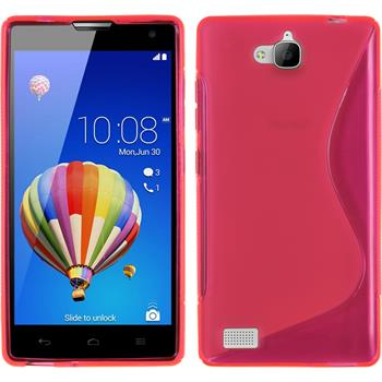 Silikonhülle für Huawei Honor 3C S-Style pink