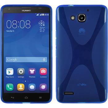 Silikon Hülle Honor 3X G750 X-Style blau