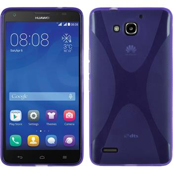 Silicone Case for Huawei Honor 3X G750 X-Style purple
