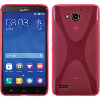Silicone Case for Huawei Honor 3X G750 X-Style hot pink