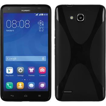 Silikon Hülle Honor 3X G750 X-Style schwarz