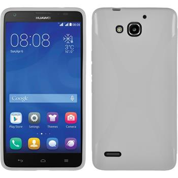Silikon Hülle Honor 3X G750 X-Style weiß
