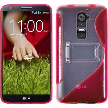 Silicone Case for LG G2  hot pink