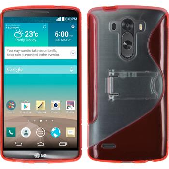Silikonhülle für LG G3 Aufstellbar rot