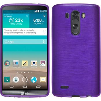 Silicone Case for LG G3 brushed purple
