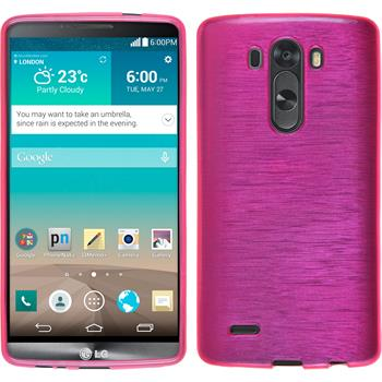 Silicone Case for LG G3 brushed hot pink