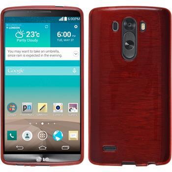 Silikonhülle für LG G3 brushed rot