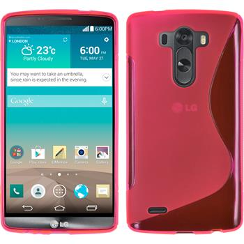 Silicone Case for LG G3 S-Style hot pink